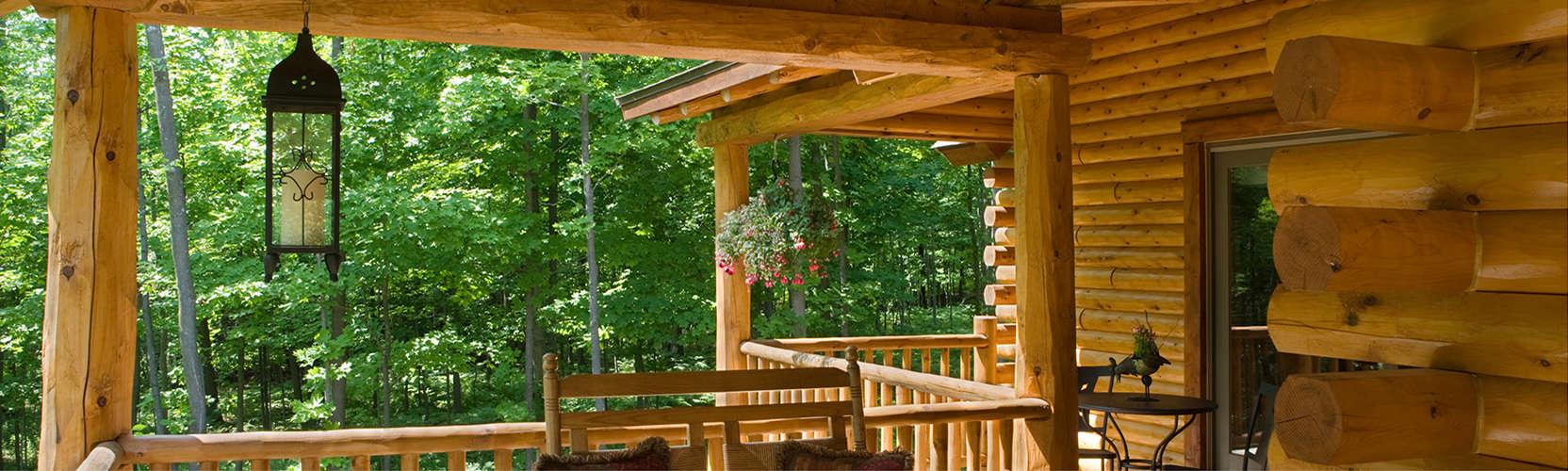 Exterior Cedar Log Siding
