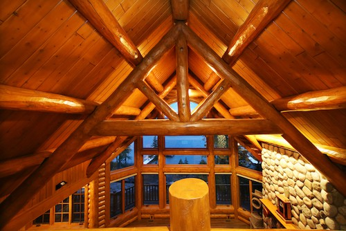 custom scribed log trusses