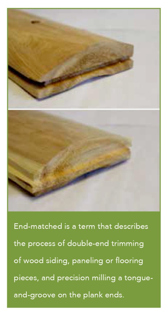 end-matched wood siding
