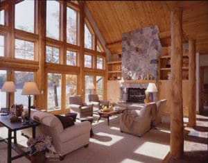 Interior log siding