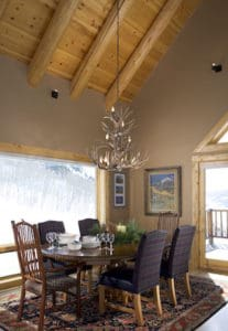 Log siding ceiling