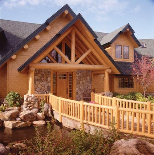 scribed log trusses custom built