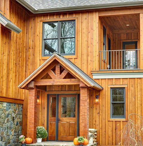 Log siding company cedar pine paneling board batten for Vertical wood siding options