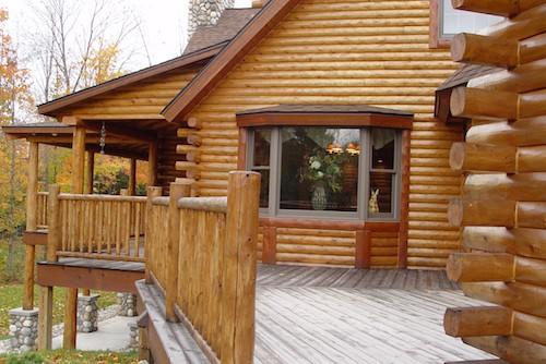 log home exterior-walls
