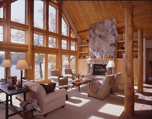 Log Siding Adds Texture And Personality To Inside Spaces