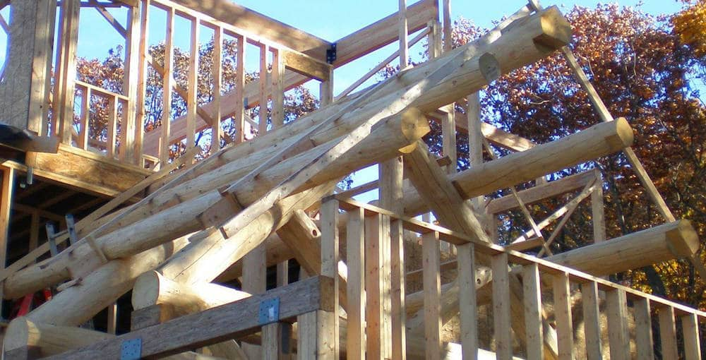 custom truss for a porch